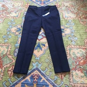 Loft Navy Blue Marisa Skinny Ankle Length Pants 6P